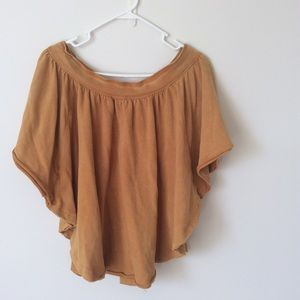 Tops - Free people mustard poncho top Xs